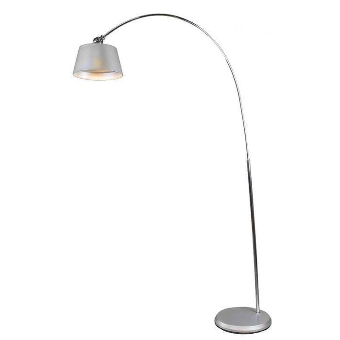 Lampe-LED-Arc-gris-argent