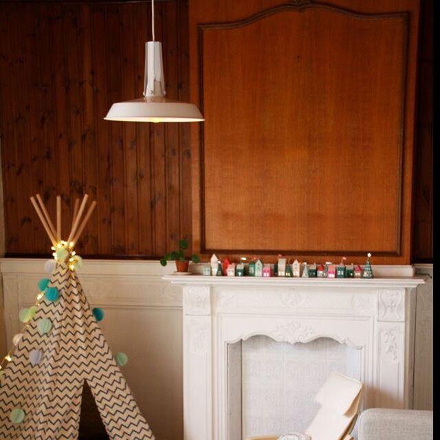 Lampe-vivante-suspendue-40cm-blanche