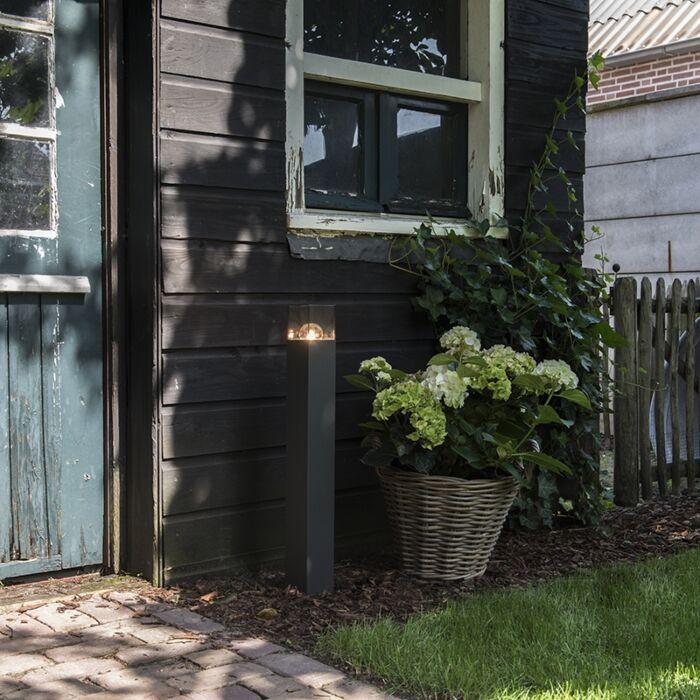 Lampe-d'extérieur-sur-pied-moderne-70-cm-anthracite-IP44---Danemark
