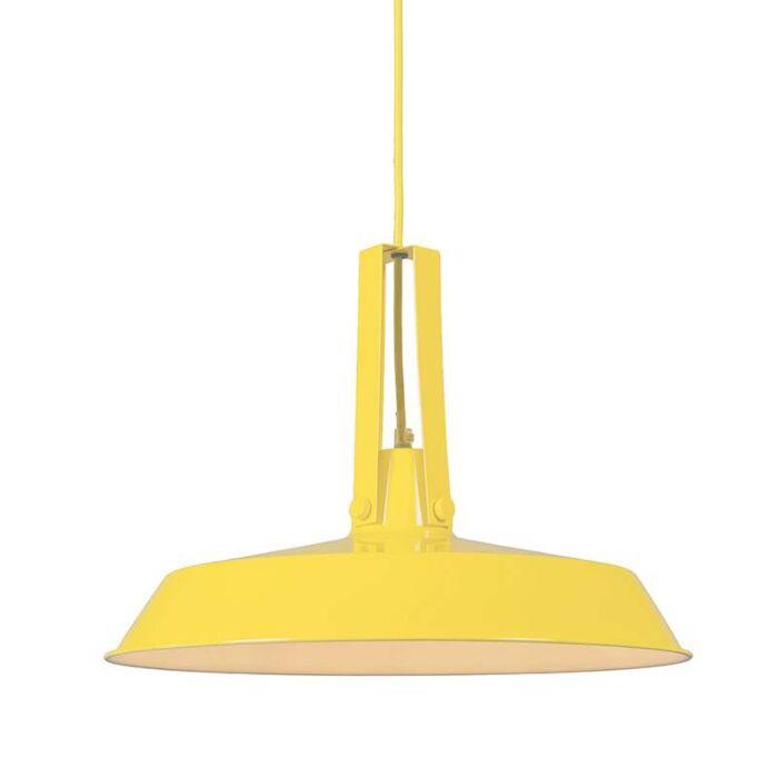 Lampe-vivante-suspendue-40cm-jaune