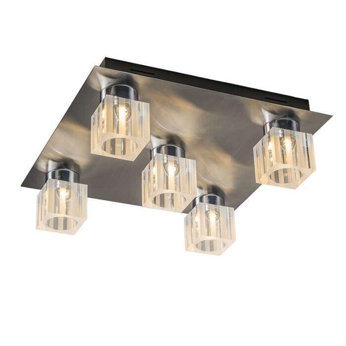 Plafonnier-Dice-5-LED-chrome