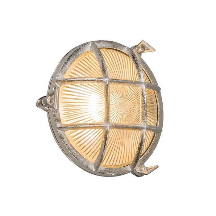 Applique-/-plafonnier-Nautica-rond-nickel
