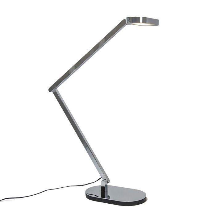 Lampe-de-table-Lettera-chrome