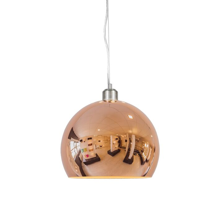 Globe-suspension-28cm-cuivre