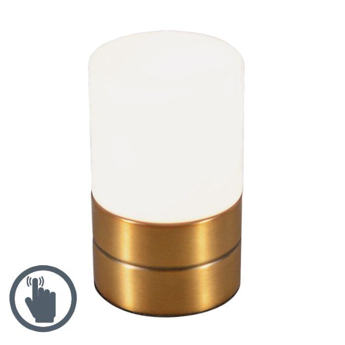Touch-Me-lampe-de-table-ronde-bronze