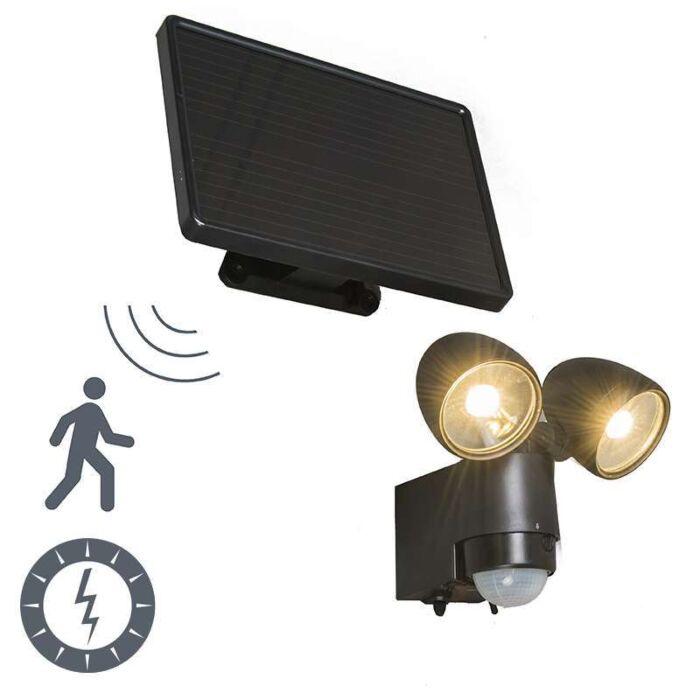 Lampe-d'extérieur-VAP-Duo-noir-avec-détecteur-de-mouvement-à-énergie-solaire