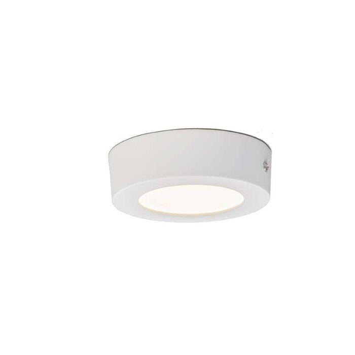 Plaque-de-plafond-6W-LED-ronde-blanche