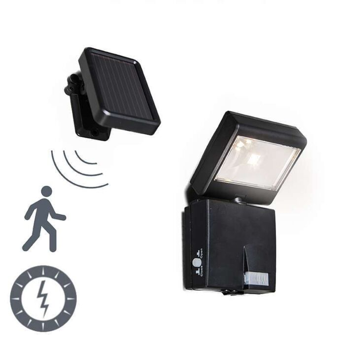 Lampe-d'extérieur-Dark-emitter-LED-avec-détecteur-de-mouvement-à-énergie-solaire