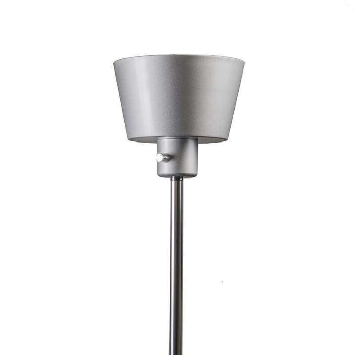 Lampadaire-Prosty-LED-gris-argenté
