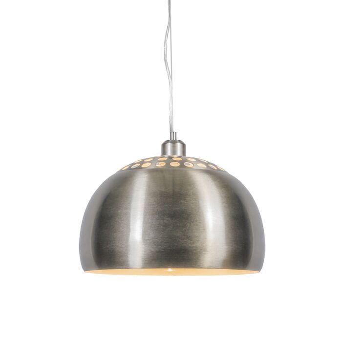 Lampe-à-suspension-ronde-moderne-en-acier---Globe