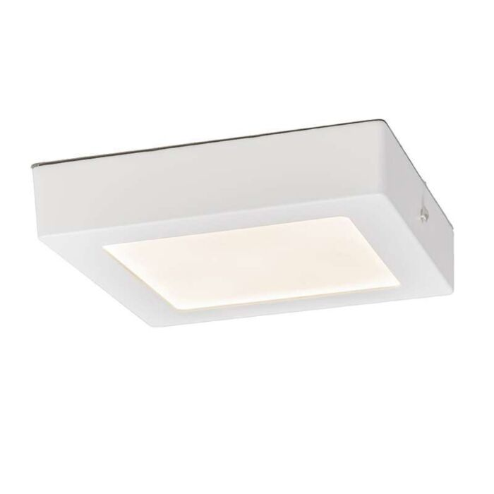 Plafonnier-Plate-12W-LED-carré-blanc