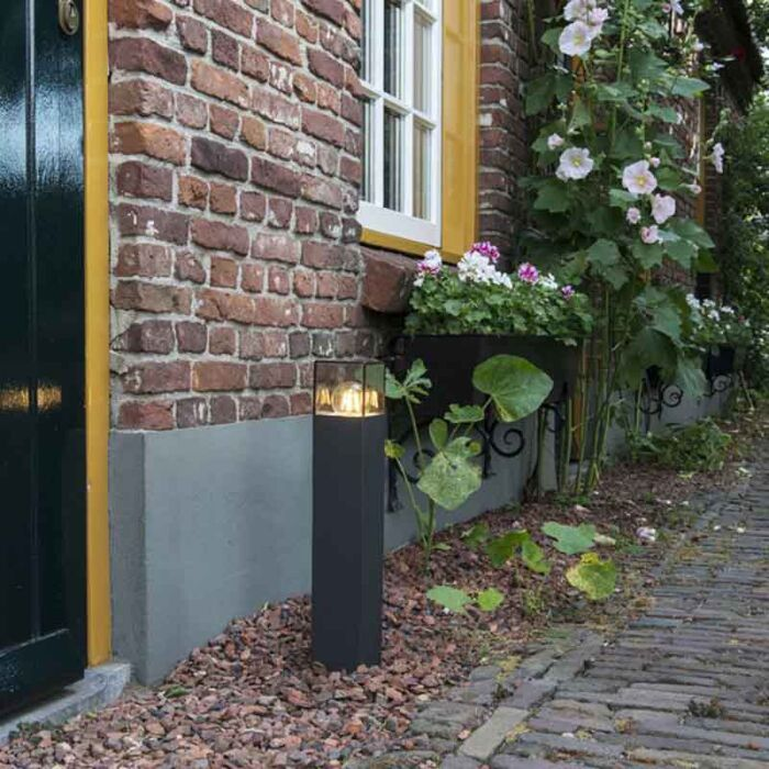 Lampadaire-d'extérieur-moderne-50-cm-anthracite-IP44---Danemark