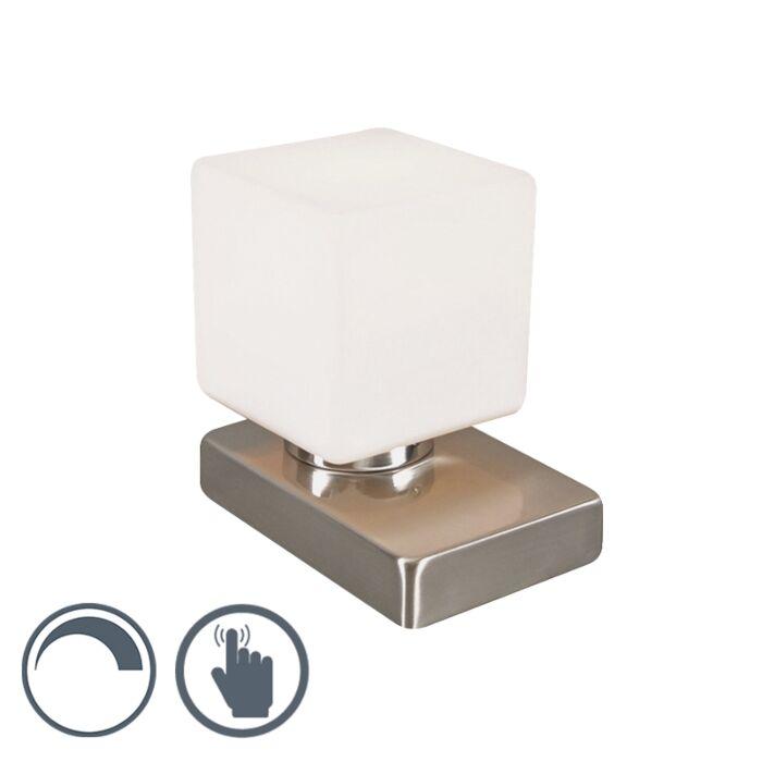 Lampe-de-table-Touch-Me-carré-acier