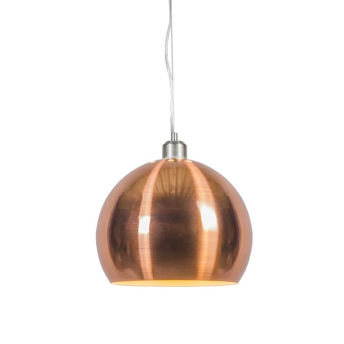 Suspension-Globe-28-cm-en-cuivre-mat