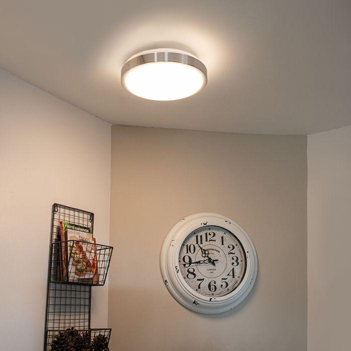 Plafonnier-moderne-en-aluminium-31-cm-avec-LED-12W---Avant