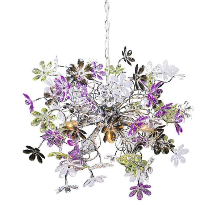 Fiore-4-lampe-à-suspension-chrome