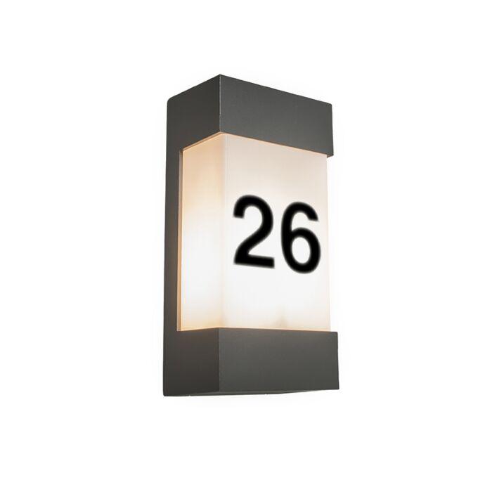 Applique-d'extérieur-anthracite-avec-numéro-de-maison-IP54---Tide-V