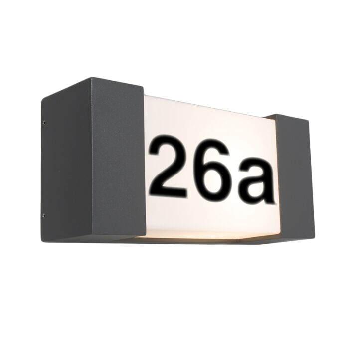 Applique-extérieure-anthracite-avec-numéro-de-maison-IP54---Tide-H