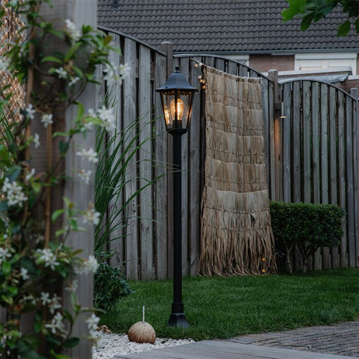 Lampe-d'extérieur-classique-sur-pied-noir-127,5-cm-IP44---La-Nouvelle-Orléans