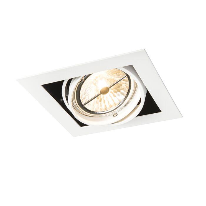 Spot-encastrable-carré-blanc-orientable-1-lumière---Oneon-111-1