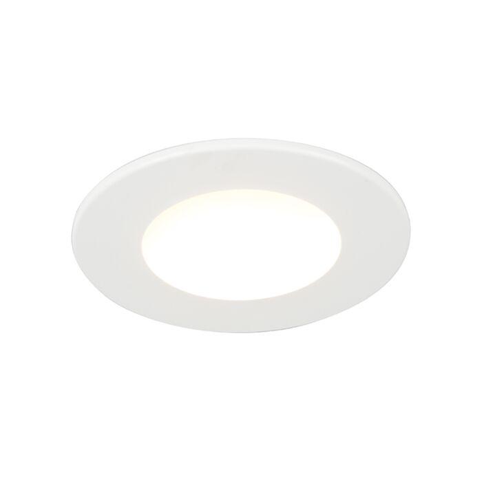 Spot-encastrable-blanc-avec-LED-350-lumens-3000K-5W-IP65---Blanca