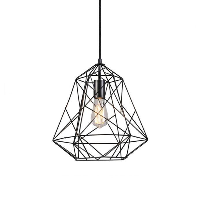 Lampe-à-suspension-industrielle-noire---Framework-Basic