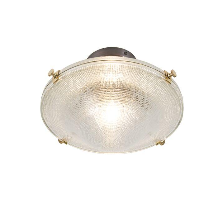 Plafonnier-rétro-cuivre-avec-verre-clair-vintage---Anjar