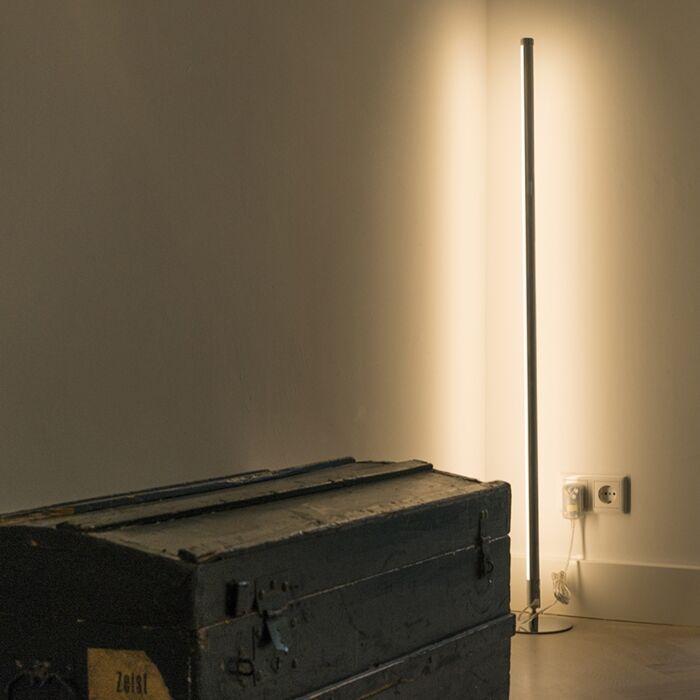 Lampadaire-moderne-LED-chrome---Line-up