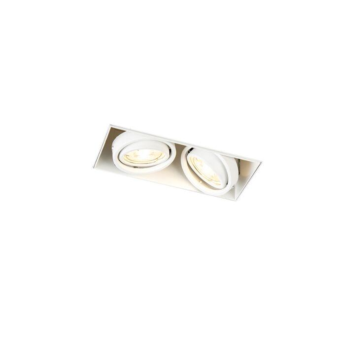 Spot-encastré-blanc-rotatif-et-inclinable-sans-garniture---Oneon-2