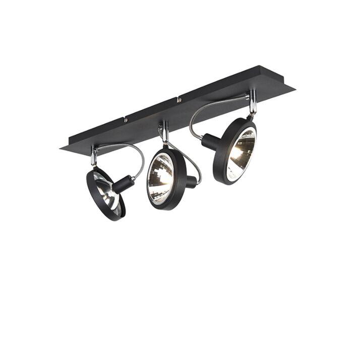Spot-design-noir-3-lumières-réglable---Nox