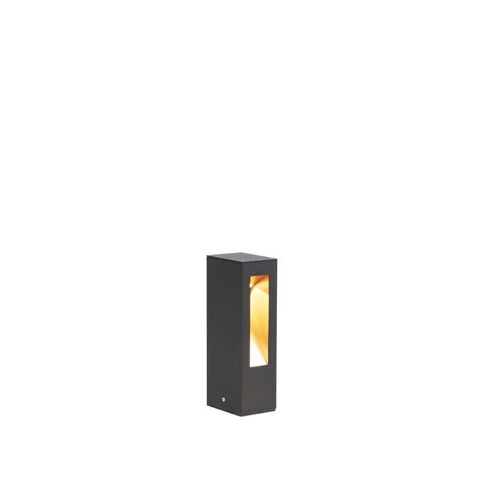 Lampe-d'extérieur-sur-pied-moderne-noire-25cm-avec-LED---Intorus