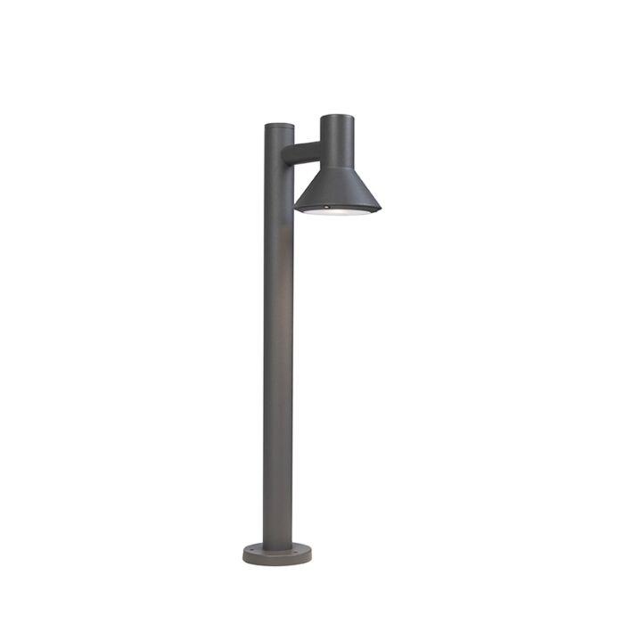 Lampe-d'extérieur-sur-pied-moderne-gris-foncé-65cm---Humilis