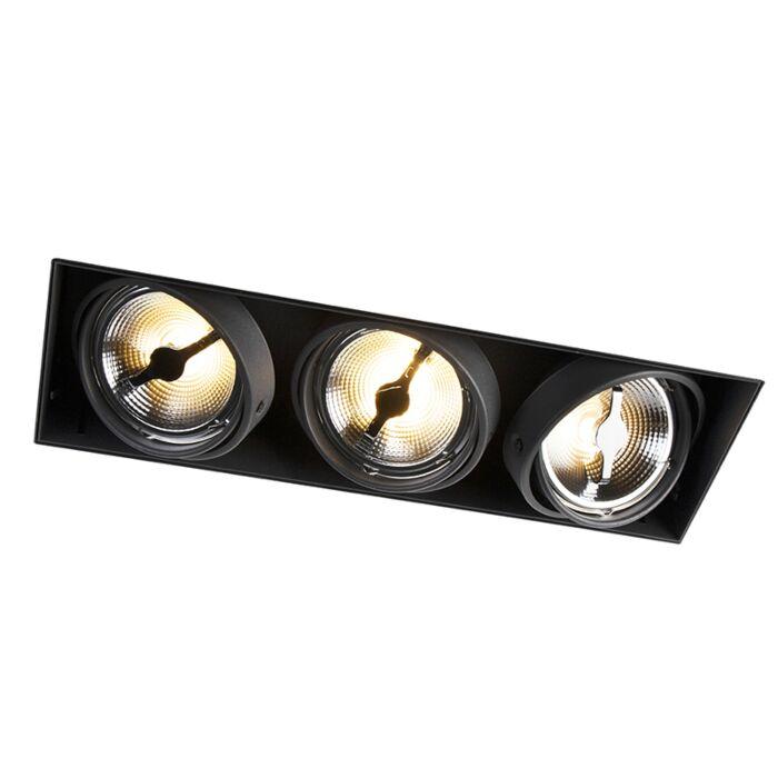 Spot-à-encastrer-blanc-AR111-sans-garniture-à-3-ampoules---Oneon-111-3
