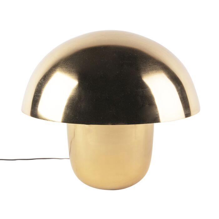 Lampe-de-table-moderne-or-avec-intérieur-blanc-50-cm---Canta