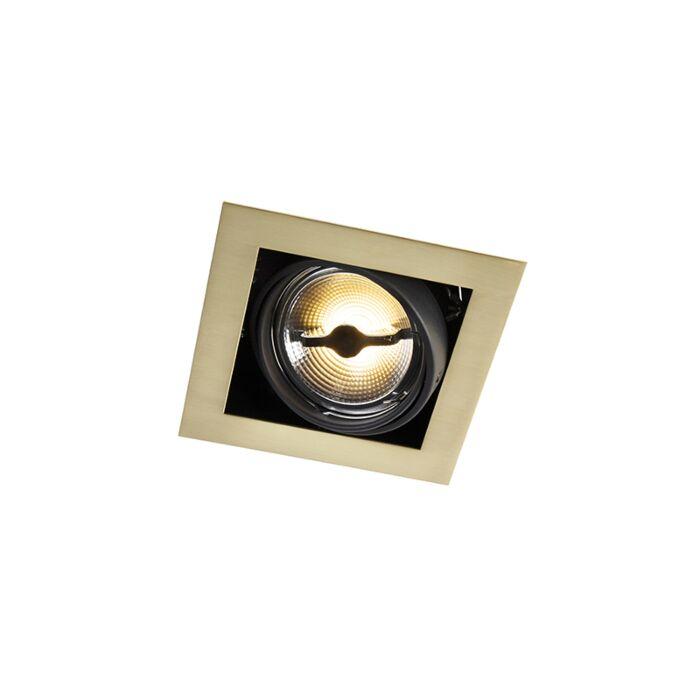 Spot-encastré-laiton-carré-réglable-1-lumière---Oneon-111-1