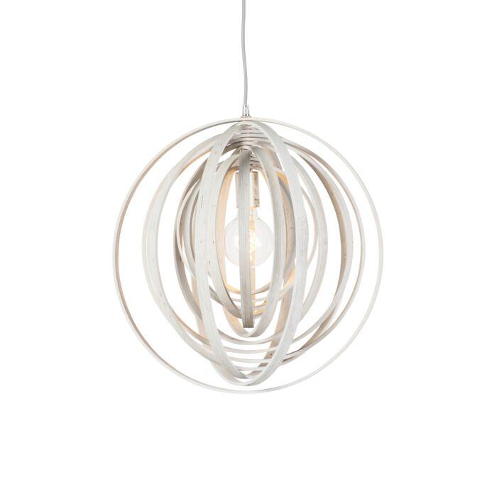 Lampe-à-suspension-ronde-design-en-bois-blanc---Organiser