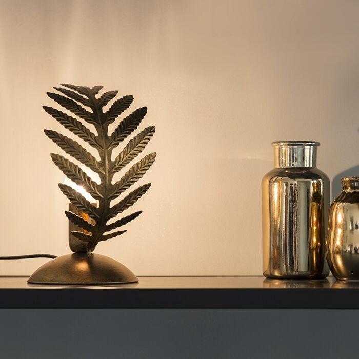Lampe-à-poser-vintage-petite-or---Botanica