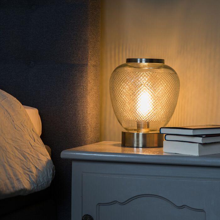 Lampe-de-table-vintage-en-verre-avec-acier-Bardo