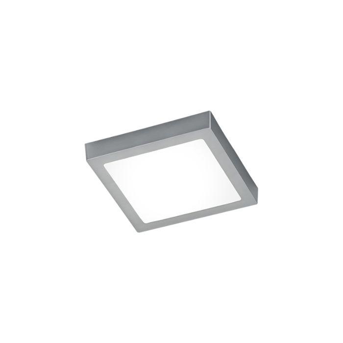 Plafonnier-carré-moderne-en-acier-avec-verre,-y-compris-LED---Boy