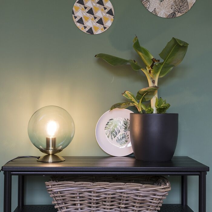 Lampe-de-table-art-déco-en-laiton-avec-verre-bleu---Pallon
