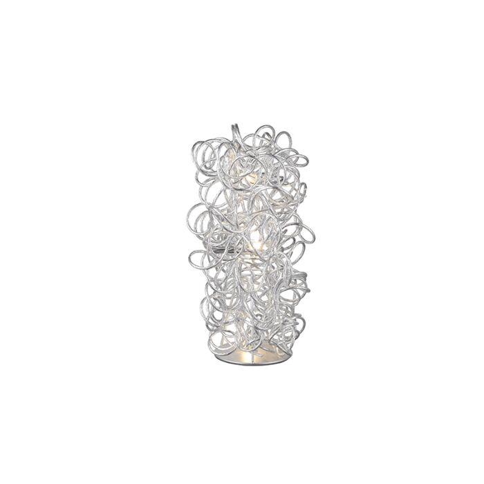 Lampe-de-table-moderne-chromée-avec-des-boucles---Elza
