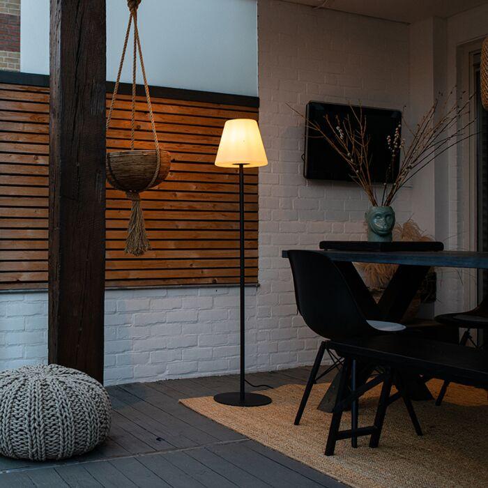 Lampadaire-extérieur-moderne-noir---Virginia