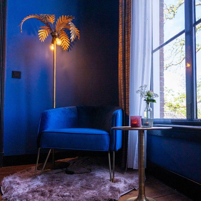 Lampadaire-vintage-doré-à-2-lumières---Botanica