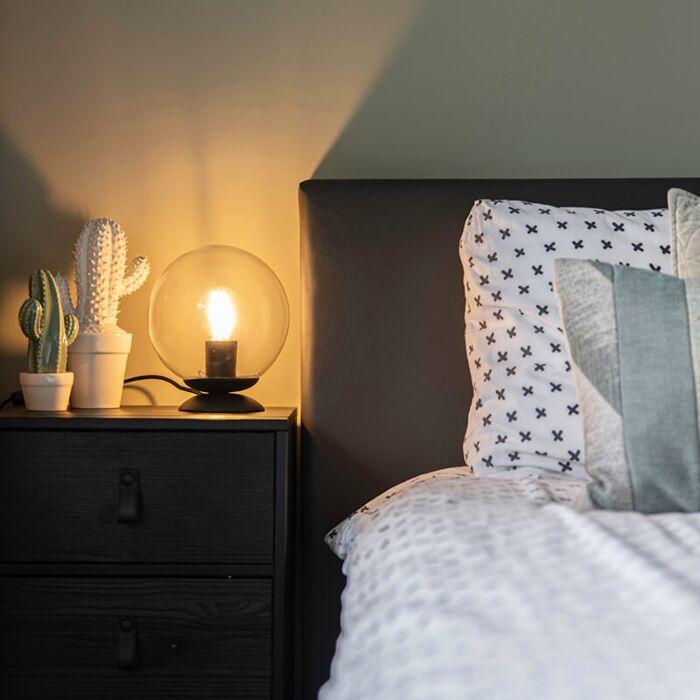 Lampe-de-table-Art-Déco-noire---Pallon
