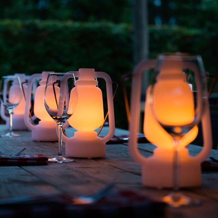 Lampe-de-table-blanche-effet-flamme-22-cm---Storm-Mini