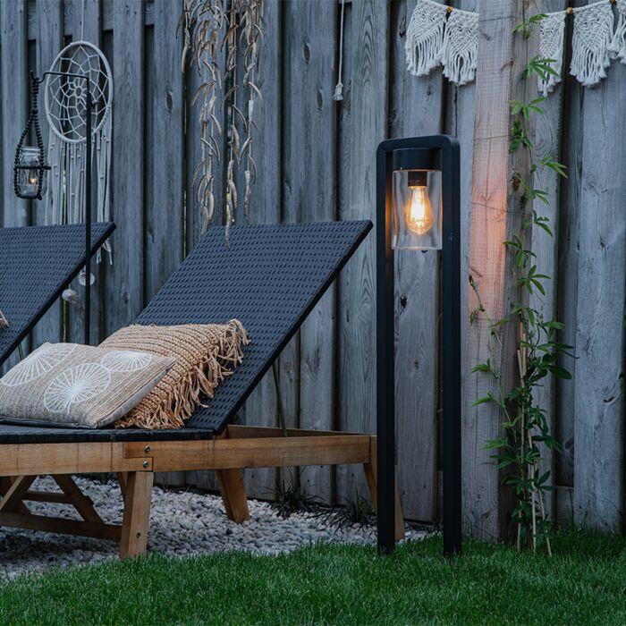Lampe-d'extérieur-sur-pied-moderne-noir-IP44---Jarra-Balanco