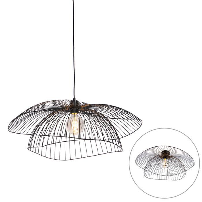 Lampe-suspension-noire-66-cm---Pua
