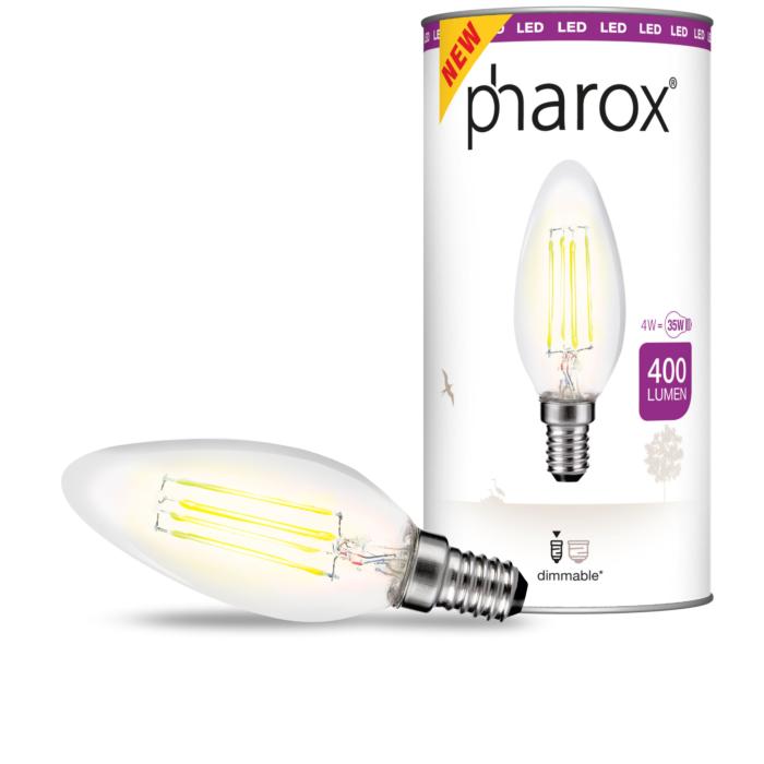 Pharox-LED-bougie-clair-E14-4W-400-lumen