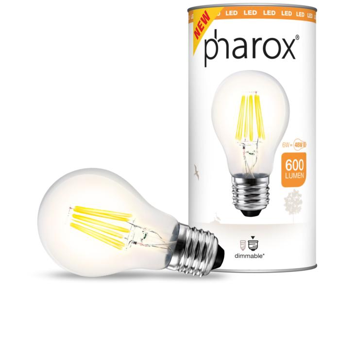 Lampe-Pharox-LED-claire-E27-6W-600-lumen