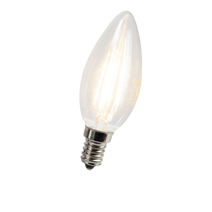 Lampe-bougie-à-filament-à-LED-E14-3W-300-lumens